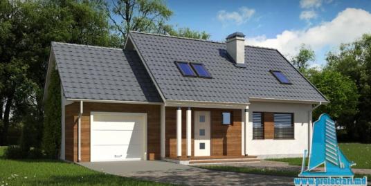 Proiect de casa cu parter, mansarda si garaj pentru un automobil-100911