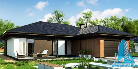 Proiect de casa cu parter si garaj pentru doua automobile-100900