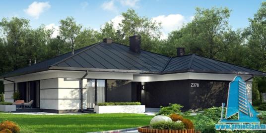 Proiect de casa cu parter si garaj pentru doua automobile-100893