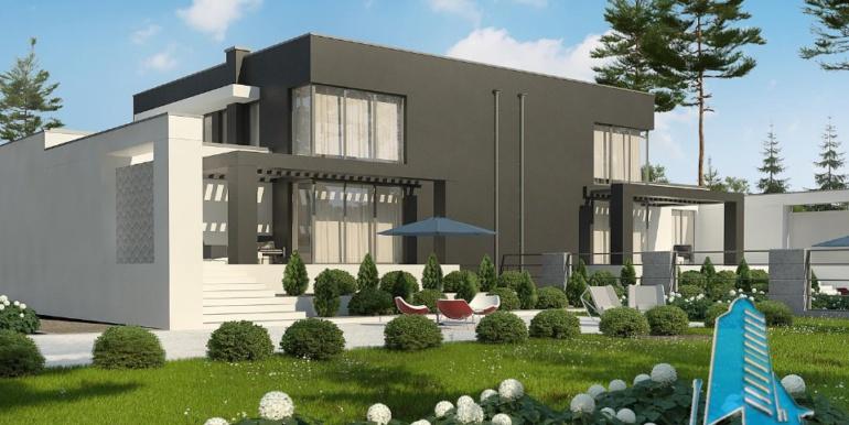 Proiect de casa duplex cu demisol, parter, etaj si garaj 2
