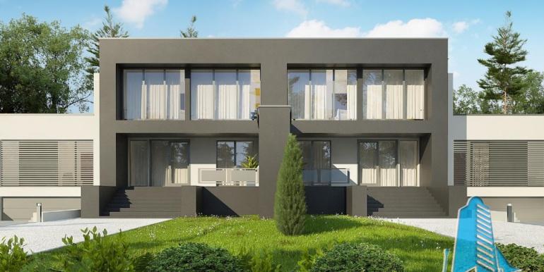 Proiect de casa duplex cu demisol, parter, etaj si garaj 3