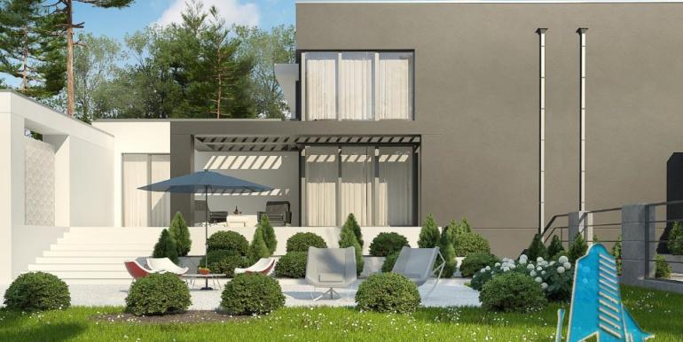 Proiect de casa duplex cu demisol, parter, etaj si garaj 4