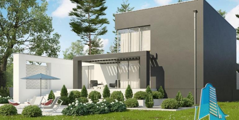 Proiect de casa duplex cu demisol, parter, etaj si garaj 5
