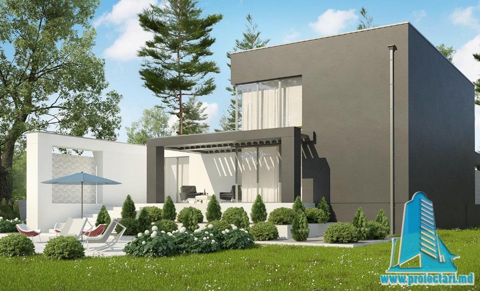 Proiect de casa duplex cu demisol, parter, etaj si garaj pentru doua automobile-100927