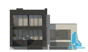 Proiect de casa duplex cu demisol, parter, etaj si garaj fatada1