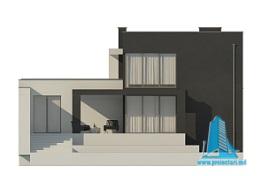 Proiect de casa duplex cu demisol, parter, etaj si garaj fatada2