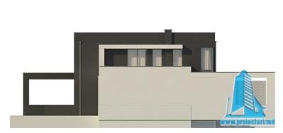Proiect de casa duplex cu demisol, parter, etaj si garaj fatada4