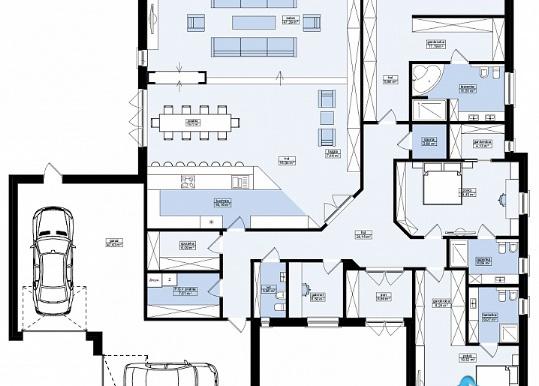 Proiect de casa rezidentiala cu si garaj p