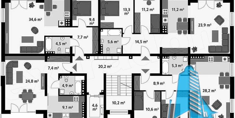 Bloc de locuit cu parter si patru etaje 3