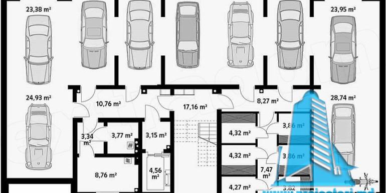 Bloc de locuit cu parter si patru etaje demisol