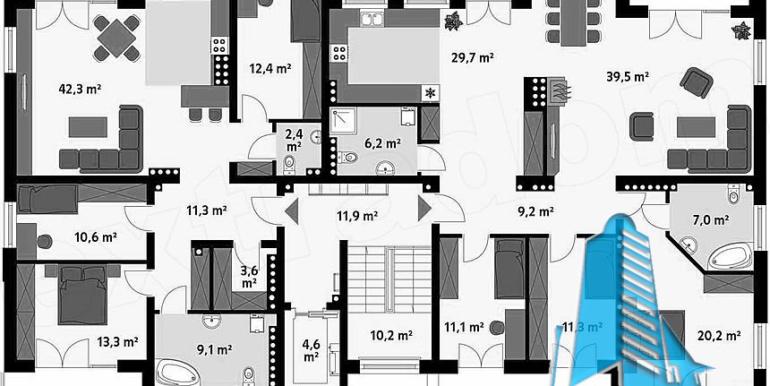 Bloc de locuit cu parter si patru etaje4