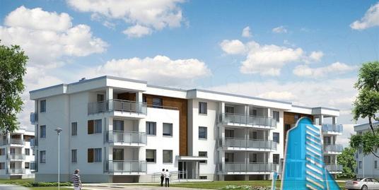 Proiect bloc de locuit cu parcare subterana si acoperis plat cu regimul de inaltime D+P+2E – 100938