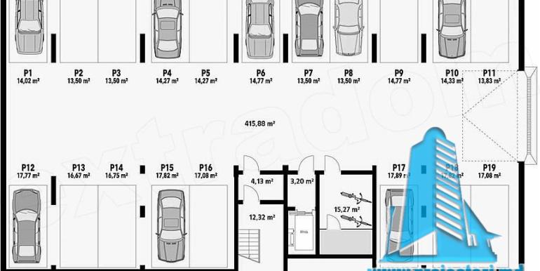 Proiect bloc de locuit de tip hotelier demisol