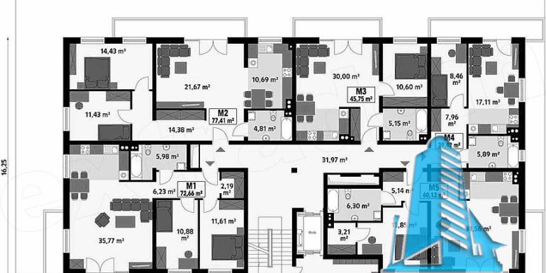 Proiect bloc de locuit de tip hotelier parter