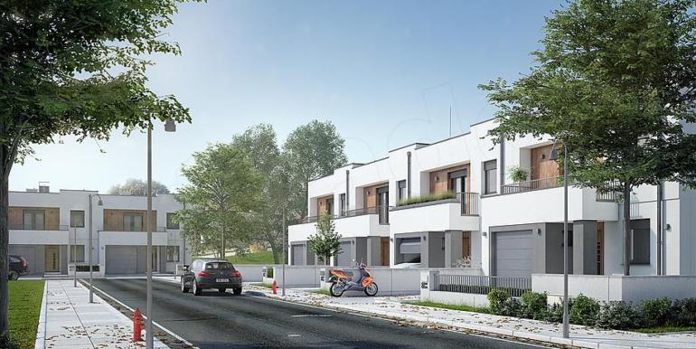proiect casa townhouse duplex vedere generala