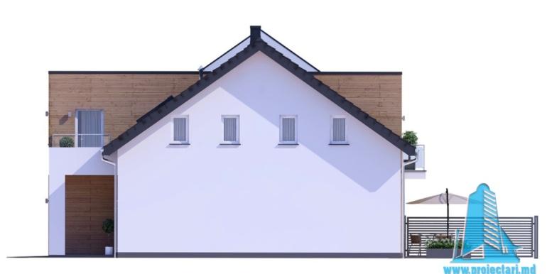 proiect de casa duplex cu parter mansarda si garaj pentru doua automobile cu terasa de vara.jpga