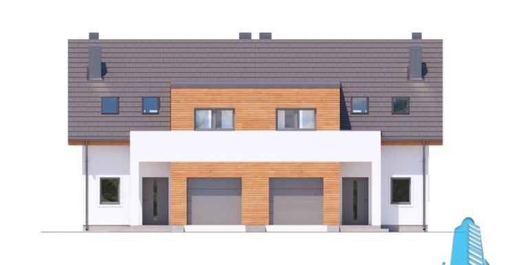 proiect de casa duplex townhouse cu garaj si terasa de vara 2