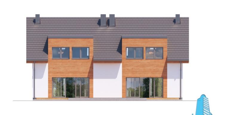 proiect de casa duplex townhouse cu garaj si terasa de vara 3