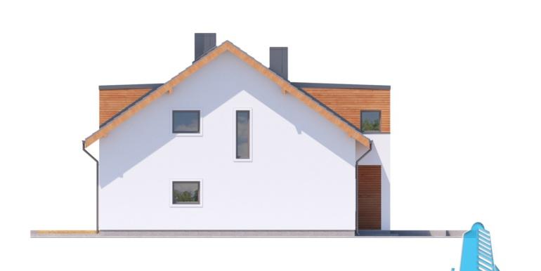 proiect de casa duplex townhouse cu garaj si terasa de vara 4