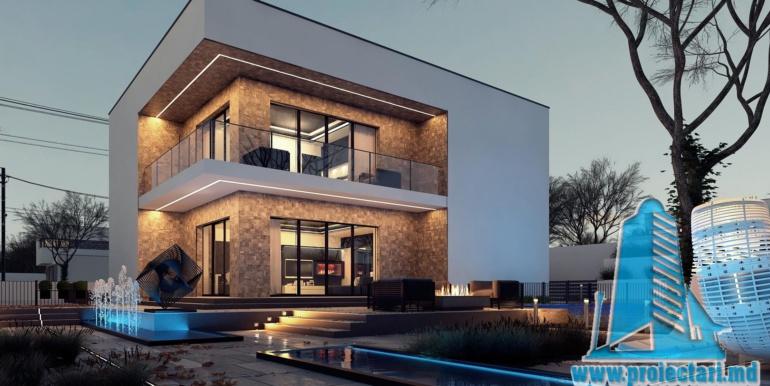 Proiect de casa cu acoperis plat moldova chisinau