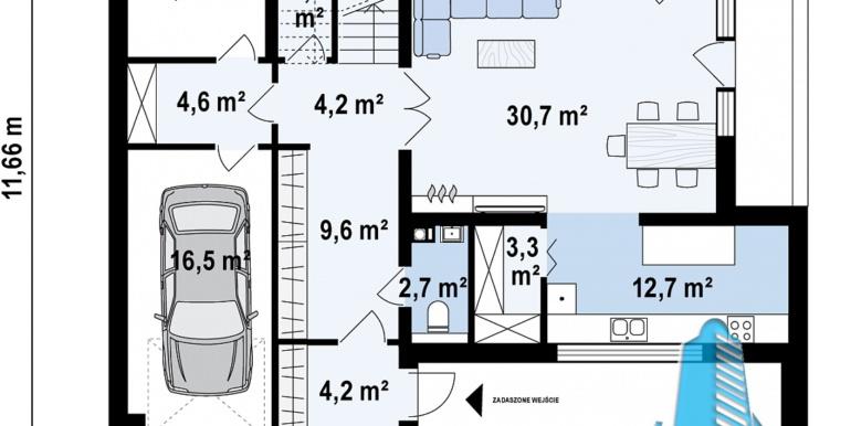 Proiect de casa cu acoperis plat moldova chisinau plan parter