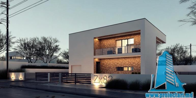 Proiect de casa cu acoperis plat moldova chisinau1