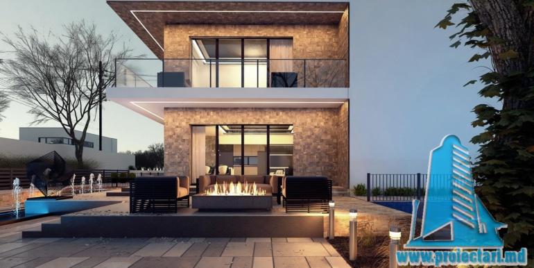Proiect de casa cu acoperis plat moldova chisinau2