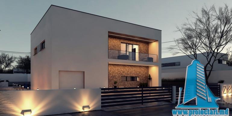 Proiect de casa cu acoperis plat moldova chisinau4