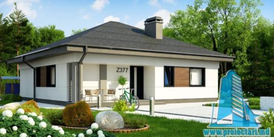 Proiect de casa cu parter si terasa de vara amenajata-100946