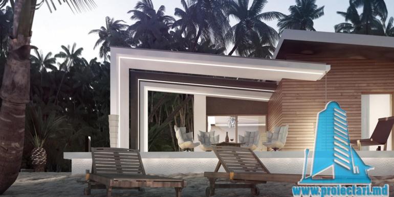 Proiect de casa cu parter acoperis plat si terasa amenajata moldova chisinau2