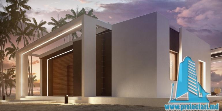 Proiect de casa cu parter acoperis plat si terasa amenajata moldova chisinau4