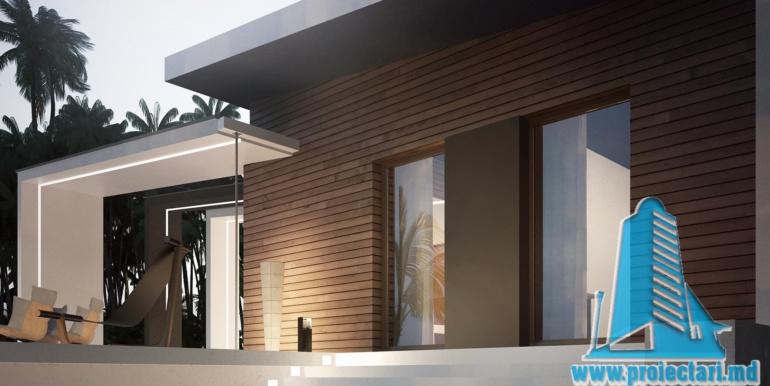 Proiect de casa cu parter acoperis plat si terasa amenajata moldova chisinau5