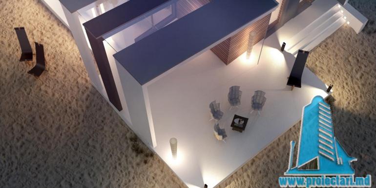 Proiect de casa cu parter acoperis plat si terasa amenajata moldova chisinau6