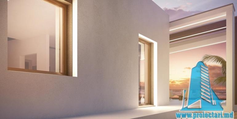 Proiect de casa cu parter acoperis plat si terasa amenajata moldova chisinau7