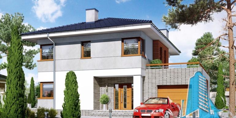 proiect de casa cu doua etaje si garaj pentru un automobil1