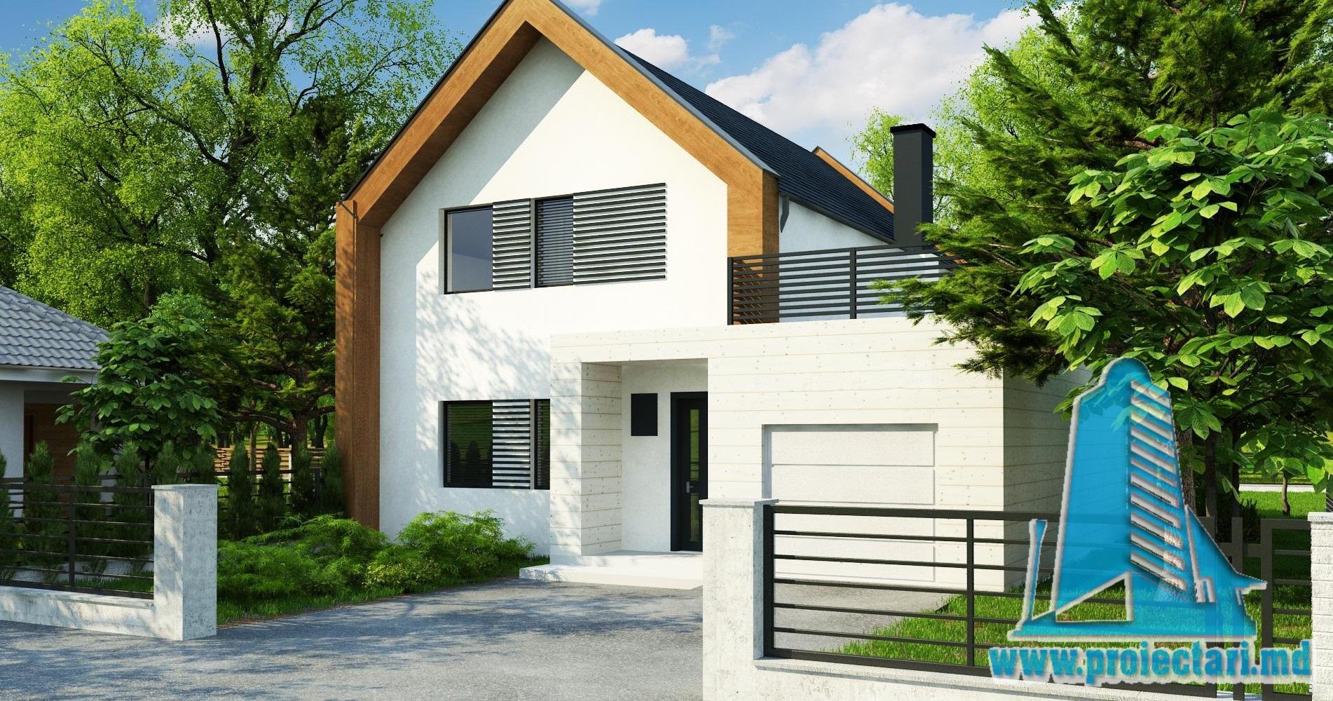 Proiect Casa Din Lemn.Proekt Doma C Garazhom Dlya 1avtomobilya Parterom Mansardoj I Letnej