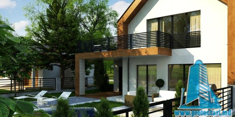 proiect de casa cu parter si mansarda cu decoruri din lemn2