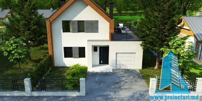 proiect de casa cu parter si mansarda cu decoruri din lemn5