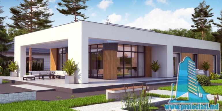 Casa cu parter si acoperis plat2