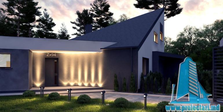 Proiect de casa cu un etaj si terasa mare