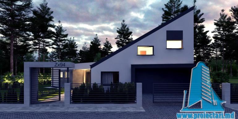 Proiect de casa cu un etaj si terasa mare1