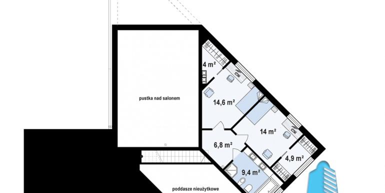 Proiect de casa cu un etaj si terasa mareplan etaj
