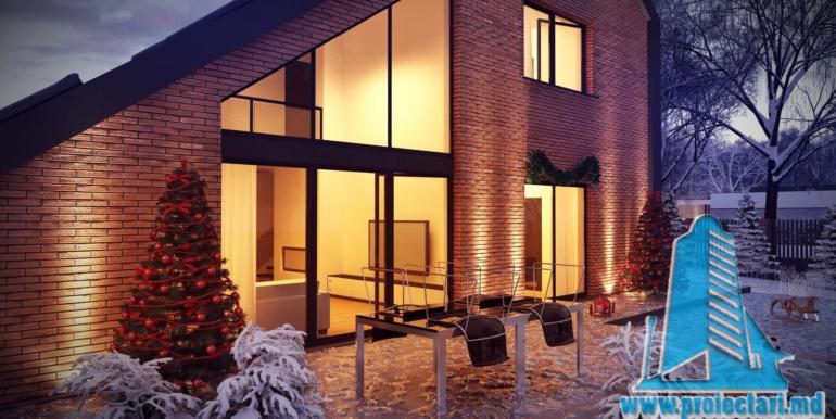 Proiect de casa mica din caramida cu mansarda5