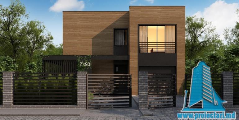 proiect de casa cu doua etaje acoperis plat si bazin2