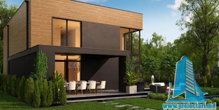 proiect de casa cu doua etaje acoperis plat si bazin3