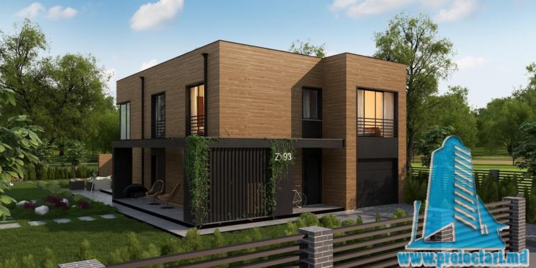 proiect de casa cu doua etaje acoperis plat si bazin4