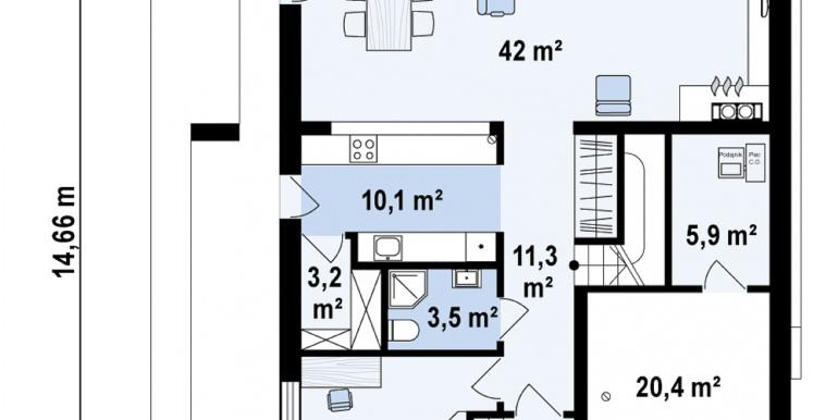 proiect de casa cu doua etaje acoperis plat si bazin5