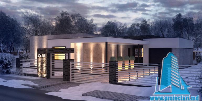 proiect de casa cu un etaj si garaj cu suprafata pina la 225m2