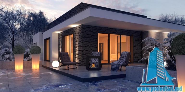 proiect de casa cu un etaj si garaj cu suprafata pina la 225m21