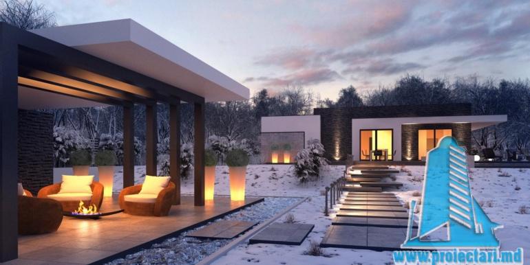 proiect de casa cu un etaj si garaj cu suprafata pina la 225m22